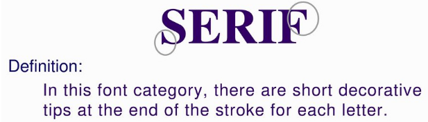 serif defination