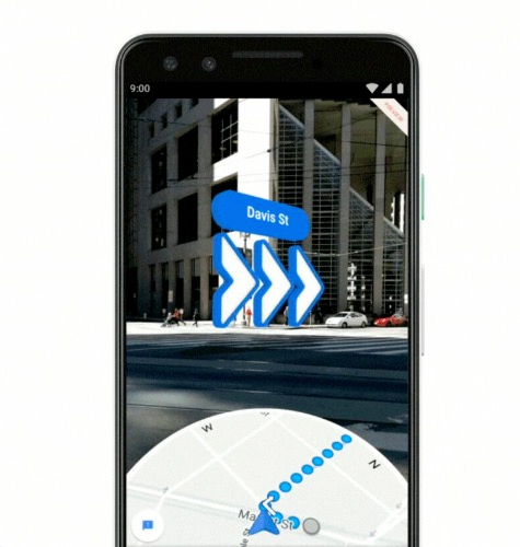 Google maps meets augmented reality (AR)